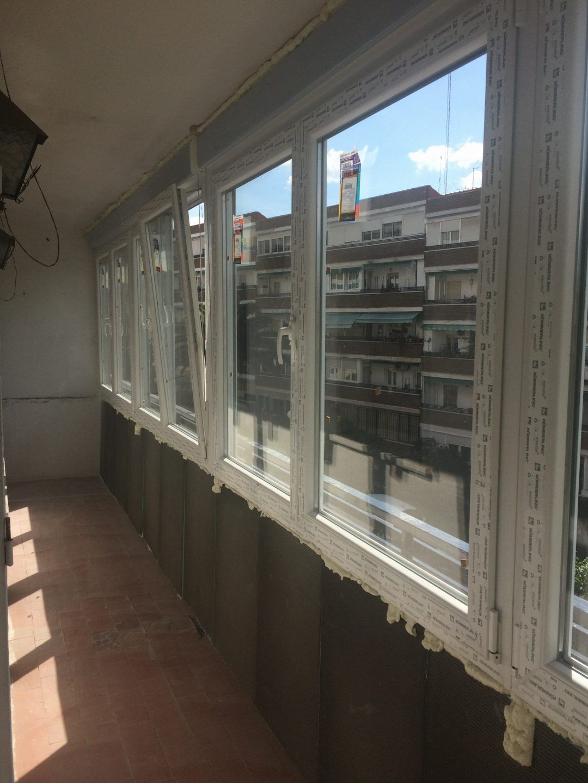 Cerramiento terraza PVC en Madrid