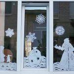 dibujos nieve ventanas