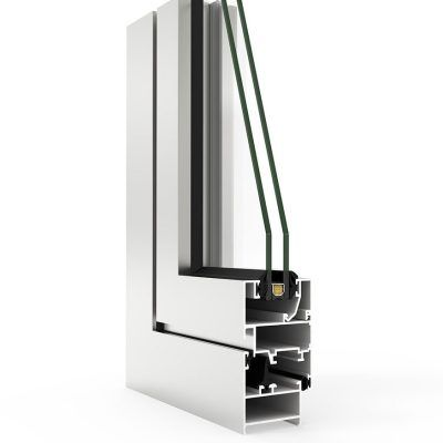 Imagen de una ventana de aluminio con Sistema COR 2300 Cortizo