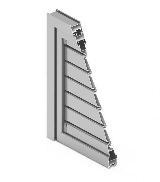Imagen en corte de un Tamiz de aluminio cortizo