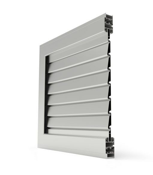 Imagen en corte de Mallorquina de Aluminio Cortizo