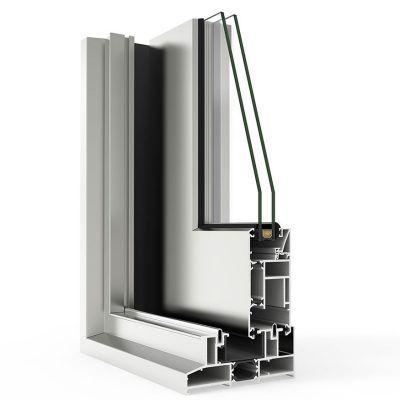 Corte de Ventana con Sistema Cortizo 4500 Corredera Elevable RPT