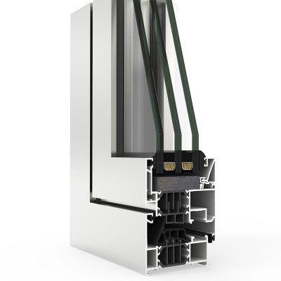 Ventana de Aluminio con Sistema COR 70 CC16 RPT