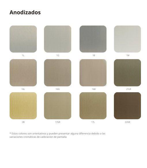 Colores de anodizados en vantanas cortizo