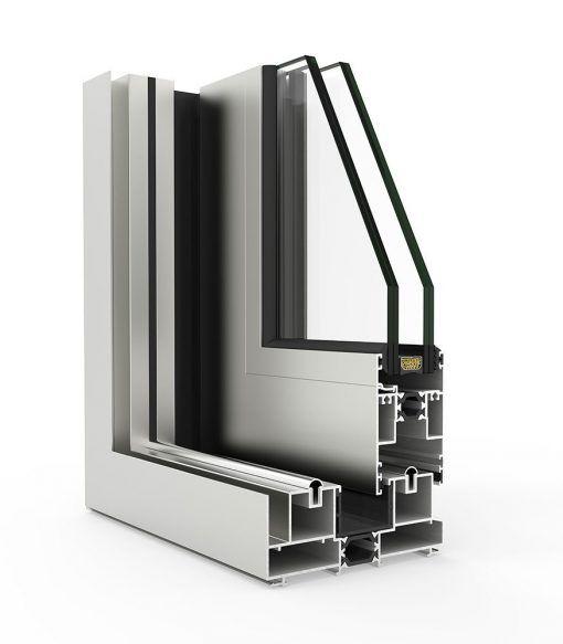 Corte de Ventana de Aluminio Cortizo con Sistema 4700 Corredera RPT