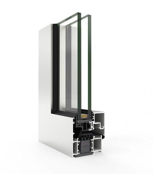 Ventana Aluminio Cortizo con Sistema COR 70 Hoja Oculta C16 ST RPT