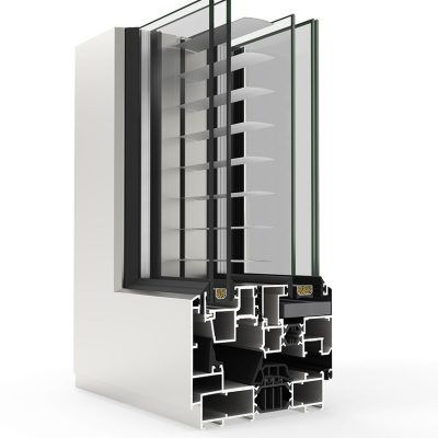 Ventana de Aluminio con Sistema COR Urban C16 RPT Cortizo