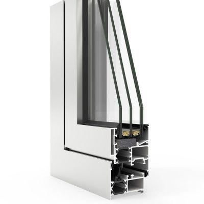 Imagen de Ventana en corte con Sistema COR 3500 RPT Cortizo