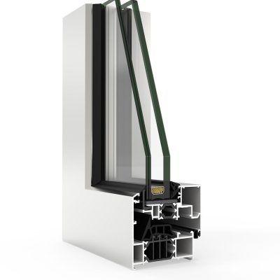 Ventana de aluminio Cortizo con COR 70 Hoja Oculta CC16 RPT