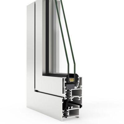 Imagen de Ventana en corte con Sistema COR 3000 RPT Cortizo