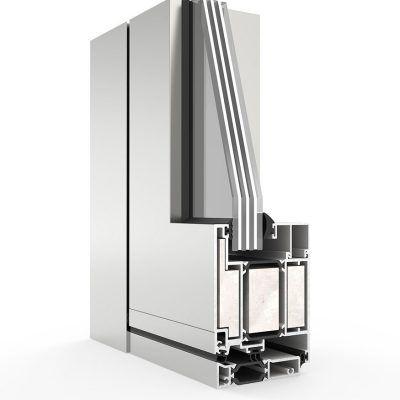 Seccion Puerta Millennium FR RPT Aluminio Cortizo