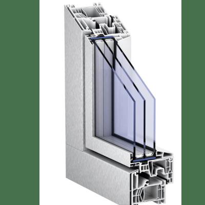 Corte Ventana Sistema AluClip Zero de KÖMMERLING