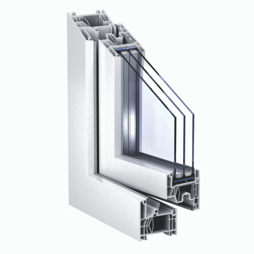 Corte ventana con Sistema KÖMMERLING76